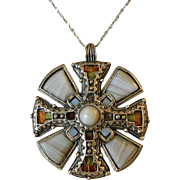 Miracle Britain Celtic Cross Pendant Necklace