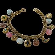 Vintage Jewelled Charm Bracelet
