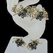 """""""Golden Cluster"""" 1961 Sarah Coventry Bracelet and Earrings"""