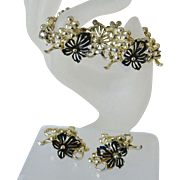 """Golden Cluster"" 1961 Sarah Coventry Bracelet and Earrings"