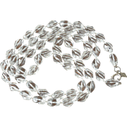 """""""Holiday"""" Beads Sarah Coventry Necklace -  Translucent Clear"""