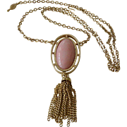 "1973 Sarah Coventry ""Pink Lady"" Pendant Necklace"