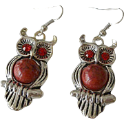 Adorable Owl Figure Ear Wire Earrings