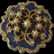 Vintage Art Nouveau Styled Pin