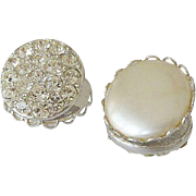"Sarah Coventry 1959 ""Pearl Wardrobe"" Clip Earrings"