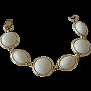 "Sarah Coventry  ""White Sophisticate""  Link  Bracelet  1965"