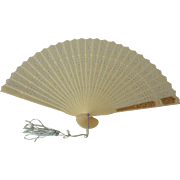 Decorated Celluloid Hong Kong Souvenir Fan