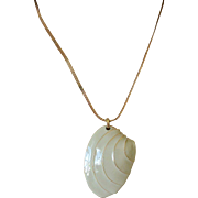 Sarah Coventry Enameled Sea Shell Design Pendant Necklace