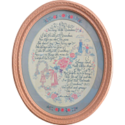 """Walking with Grandma"" Sonnet by Homco Inc. Framed Wall Hanger"