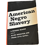 "Book ""American Negro Slavery""  History of Slavery in America"