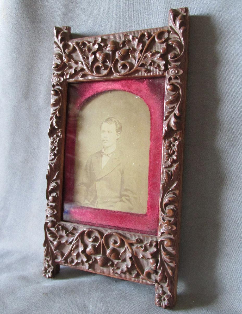 Antique Victorian Aesthetic Picture Frame Velvet Mat Sold