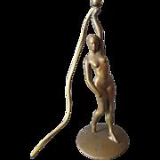 Stylish c1920s Art Deco Lamp of Nude Lady