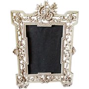Victorian Picture Frame with Cherub Angel & Lyre