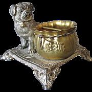 Adorable Antique Victorian Pug Dog Match Safe