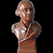1931 George Washington Bust Sculpture, Art Metal Works