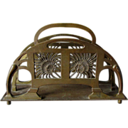 Big Art Nouveau, Arts & Crafts Bronze Desk Top Letter Holder