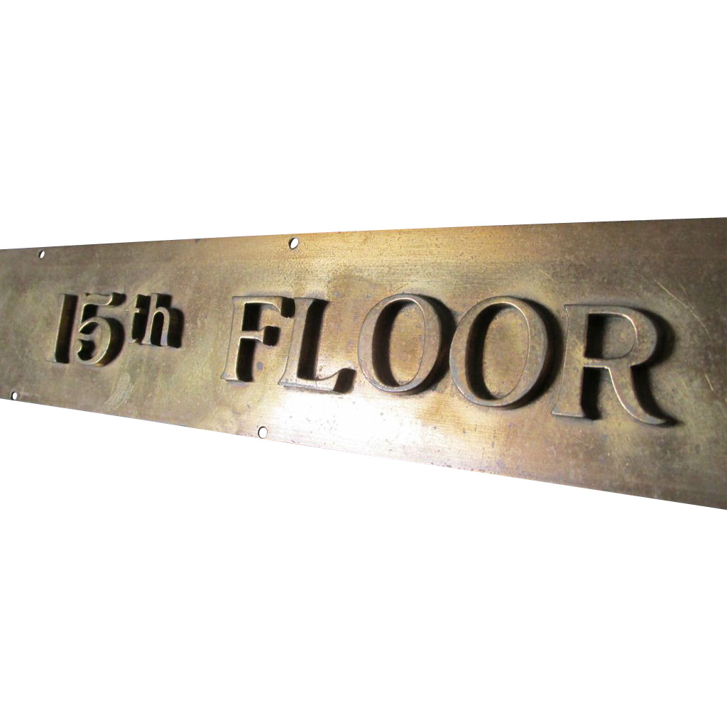 Old bronze 15th floor elevator indicator architectural for 15th floor