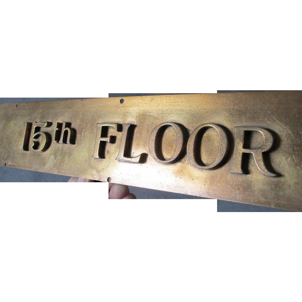 Old bronze 15th floor elevator indicator architectural for 15th floor berlin