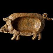 c1920s Bronze Figural Boar, Pig  Desk Accessory,  Tray