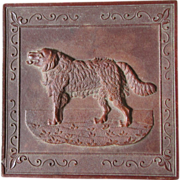 c1860-70s Gutta Percha Vanity Box with Saint Bernard Dog