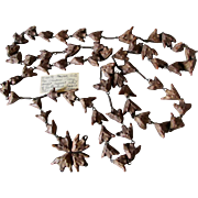 Rare c1870s Trapa Bicornis Seed Pod, Christian Rosary with Provinance