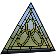 Antique Stained Glass Windows, Odd Fellows, Fraternal