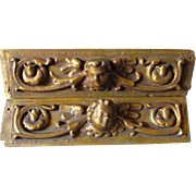 Pair Antique Italian Cherub Angel Architectural Elements