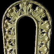 19thC French Fleur de Lis Bronze Picture or Mirror Frame