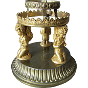 Antique French Gilt Bronze Cherub Angel Display Stand
