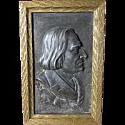 Antique Plaque of Musical Composer Franz Liszt