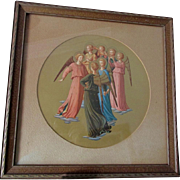 Lovely Antique Print of 7 Angels, Archangels