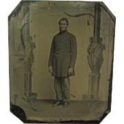 Neffs Patent Melainotype Photograph of a Confederate Soldier