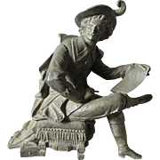 19thC Victorian Sculpture of a Writer, Clock Top
