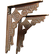 19thC Victorian Aesthetic Cast Iron Architectural Brackets