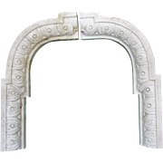 19thC Carved Marble Architectural Element Victorian Gothic Arch, Frame