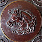 c1860s Gutta Percha Vanity Box with Arabian Horse Motif