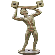 Cool Vintage Art Deco Sign, Mirror or Display Stand Figural Man