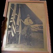 New York Military, Civil War GAR, Boy Scout Gold Orotone Photograph