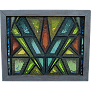 Cool Mid Century Modern Stained Glass Window