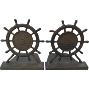 c1927  Copper Bookends from Hull of USS Constitution War Ship