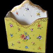 Lovely Victorian Hand Painted Ceramic Desk Top Letter Holder
