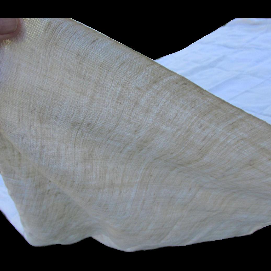 Rare Pair Early 1800 Homespun Linen Bedspread, Sheet, Towel, Signed