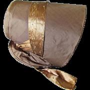 Lovely c1860-70s Victorian Ladies Silk Bonnet, Millinery Hat