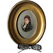 Lovely Hand Painted Porcelain Plaque of a Lady, KPM or Berlin