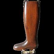 Vintage Hand Carved Folk Art Riding Boot, Trade Sign