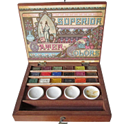 Rare Antique Reeves & Sons Superior Water Colors Paint Set