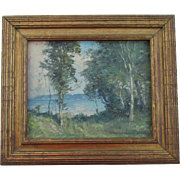 Listed Artist Alexander Bower Impressionistic Seascape