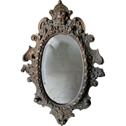 Lovely 19thC Victorian Wall Mirror with a Cherub Angel Face