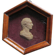 19thC Miniature Wax Portrait Roberts Adams, Architect, Died 3 March 1792