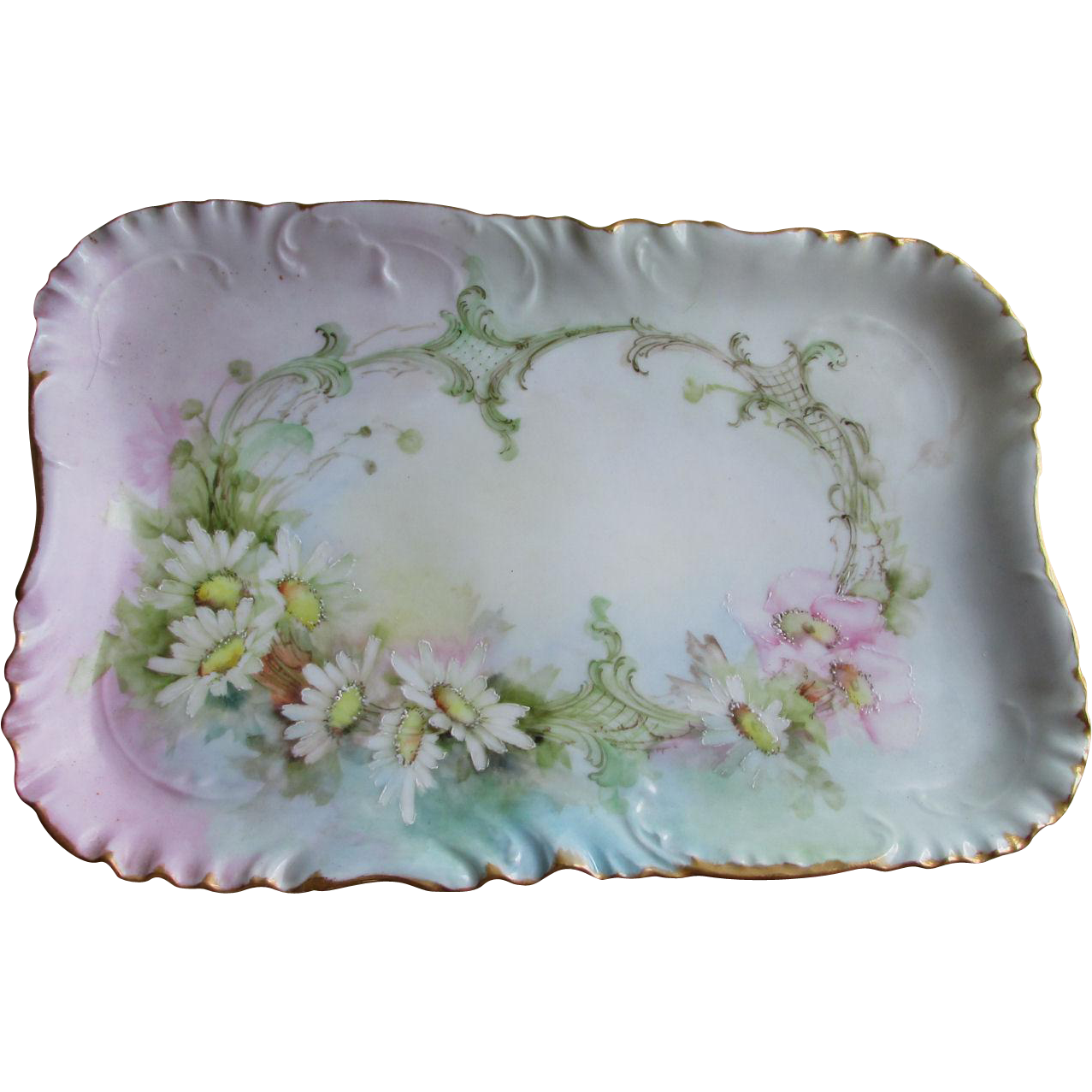 Lovely Antique Hand Painted French Haviland Limoges Platter